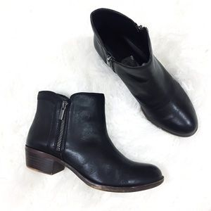 Lucky Brand Breah Bootie Black Leather 8 EUC